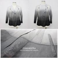 綿オーガンジー素材 グラデーションプリントジャケット(3色)