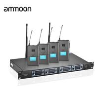 Ammoon  ワイヤレスヘッドセット  マイクシステム   プロ  4T プロ  4 チャンネル  UHF  AD04