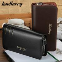 Baellery  メンズ長財布  ダブルラウンドファスナー  セカンドバッグ  低価格  高級PUレザー  ブラック/ブラウン  大人気 ブランド 格安  上質  耐久  防水  EG55