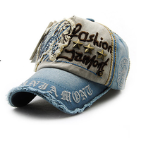 XTHREE  ユニセックス  野球帽子  レディース  破れワッペン  キャップ  海外ブランド  キャスケット 刺繍 ブルー  EH02