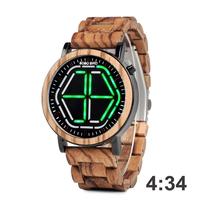 腕時計   デジタル時計   メンズ   ユニーク  デザイン   カラー4種   BOBO BIRD   EC51
