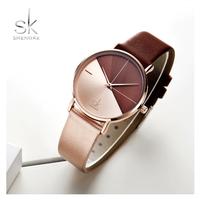 Shengke 時計 レディース ファッション レザーバンド  EC01