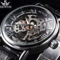 SEWOR  高級ブランド  メンズ腕時計  スケルトンメカニカルウォッチ  手巻き機械式  メンズカジュアル  EC72