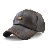 野球帽子  キャップ  レザー  カジュアル  メンズファッション  高品質  カラー2種   ブラック/ブラウン  EH51