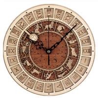掛け時計  壁時計  アンティーク  ローマ数字  ダイヤル  ベネチア  天文時計  デザイン  木製   EI11