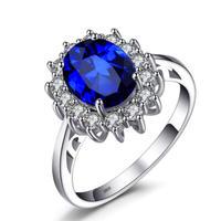 JewelryPalace  ブルーサファイアリング  シンプル  指輪  EA13