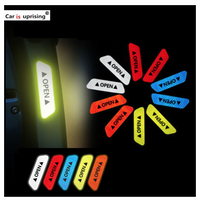 4枚セット  ドア  リフレクター  ステッカー  レッド/ホワイト/ブルー/イエロー/オレンジ  BMW  X1 X3 X4 X5 X6 Z4   CC03