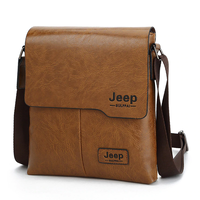 メンズ  ショルダーバッグ  カジュアル  レザー  コンパクト  薄型   Jeep  人気  海外ブランド  ブラック/ブラウン/カーキ  EB58