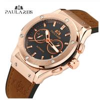 高級腕時計  PAULAREIS  正規品  メンズ  機械式  ビジネス  ラバーバンド  ゴールド  自動巻き  海外限定  オマージュウォッチ   EC58