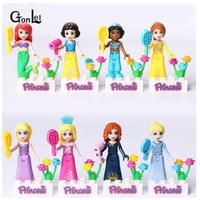 LEGO 互換 プリンセス ミニフィグ  8体セット ディズニー シンデレラ  アリエル  白雪姫  オーロラ ジャスミン ラプンツェル  TY02