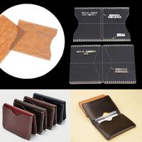 レザークラフト  型紙  カード収納  アクリル  テンプレート  自作  カードケース  革  DIY  ハンドメイド  ET08