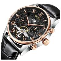 KINYUED  メンズ腕時計  ビジネス  レザー  海外ブランド  高級  人気  防水  機械式   EC57