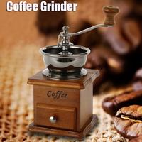 手挽き  コーヒーミル  手動  木製  レトロ  高品質  コーヒー  グラインダー  セラミック  ステンレス  ブロンズ  Millston   EK33