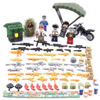 激レア  LEGO レゴ  互換  おもちゃ  PUBG  プレイヤーアンノウンズ  バトルグラウンズ  ミニフィグ  6体セット  車両・大量武器・装備・兵器付き  TY05