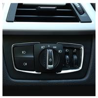 メッキ  ガーニッシュ  カバー  ライトスイッチ  内装  カスタム  パーツ  BMW F30 F31 F32 F33 F34 F36  X1 X3 X4 X5 X6  シルバー  CC01