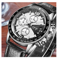 LIGE  腕時計  メンズ  高品質  スタイリッシュ  クォーツ時計  海外ブランド  人気  ブラック/ホワイト  EC55