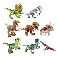 LEGO  レゴ  互換  恐竜  ダイナソー  ジュラシックワールド  ブロック  8体セット 子ども  TY03