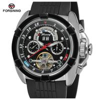 FORSINING  高級  スポーツ腕時計  メンズ  海外ブランド 全自動 カレンダー クロノグラフ カジュアル 30m 防水  カラー4色  ブラック/ゴールド/シルバー  EC71