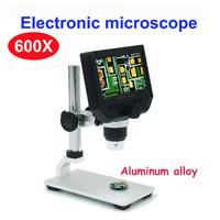 電子顕微鏡  携帯電話ディスプレイ  メンテナンス  拡大鏡  デジタル  ビデオ顕微鏡  ポータブルLED  600X  金属スタンド  EW09