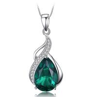 JewelryPalace  ペンダント エメラルドグリーン  ネックレス  チェーンなし  シルバー  EA11