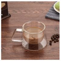 2重ガラス  マグカップ  コーヒーカップ  耐熱ガラス  おしゃれ  EK43