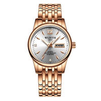 WLISTH  レディース 時計 ファッション ブレスレット 腕時計  ピンクゴールド/シルバー/ブラック  EC05