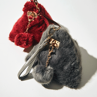 triangle fur bag
