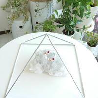 国産品 ピラミッドブースター Lシルバー(鉄製)