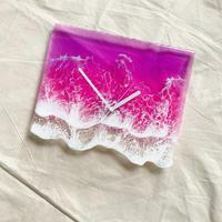 Clear Ocean Clock (Purple×Pink)