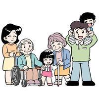 イラスト集-B(2A:PSD版)家庭・家族、他