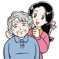 イラスト集-B(3A:PSD版)高齢者・福祉