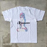 青蛙神(CHINWASEN) Back printing tee (ビキニギャル)