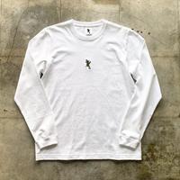 青蛙神(CHINWASEN) Embroidery long sleeve tee (刺繍オリーブ)