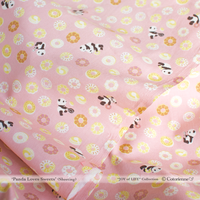 【残り190cm!】Panda Loves Sweets -coral pink (CO112508 E)