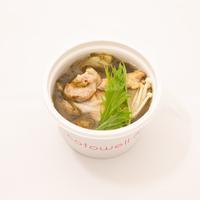 鶏肉の塩麴焼きのとろろ昆布スープ