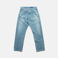 C.T.L STRAIGHT DENIM PANTS-BENGARA(INDIAN RED) / LIGHT INDIGO