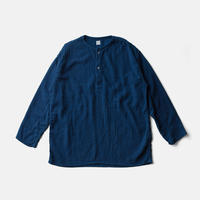 SLEEP WHISPERING SEA COTTON SHIRTーAUTHENTIC INDIGO