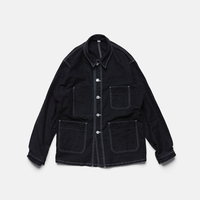 MOLE SKIN TOWN JACKET-BLACK