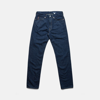 C.T.L SLIM STRAIGHT DENIM PANTS-BENGARA(INDIAN RED) / WASHED INDIGO