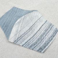 藍墨染め桐生織り絹紡紬糸マスク