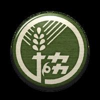 【農協マーク】缶バッヂ『翠』