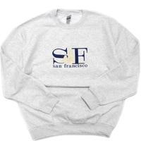 "San Francisco Souvenir Crew Neck Sweat Shirt ""SF"" Gray"