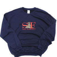"San Francisco Souvenir Crew Neck Sweat Shirt ""SF"" Navy"