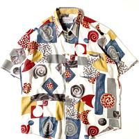 80s Euro Shortsleeve Cotton/Linen Shirt