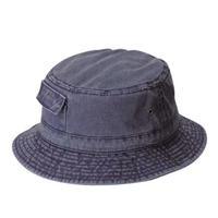 DPC Dyed Twill Bucket Hat w/ Side Pocket Navy