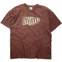 2000s m&m Short Sleeve T-Shirt Brown