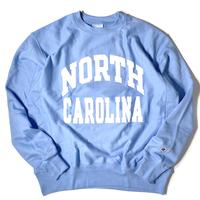 """Champion Reverse Weave Sweat Shirt """"North Carolina University"""" Royal/White"""