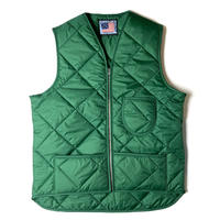 SNAP'N'WEAR QUILTED NYLON VEST GREEN