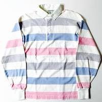 90s Lands' End Long Sleeve Stripe Rugby Shirt
