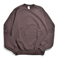 Los Angeles Apparel 14oz Garment Dye Crewneck Chocolate